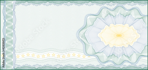 Fotografía  Background for Voucher, Gift Certificate, Coupon or Banknote /
