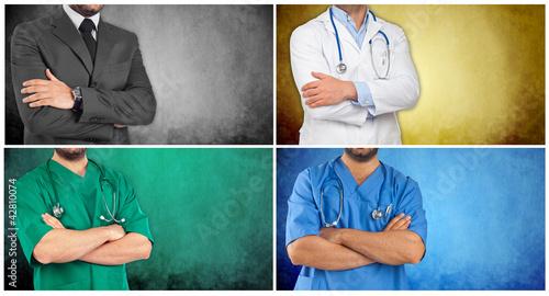 Fotografia  Collage figure sanitarie