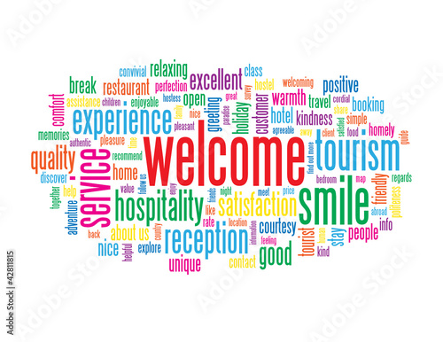 Welcome tag cloud card smile customer service greetings home welcome tag cloud card smile customer service greetings home m4hsunfo