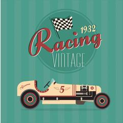 FototapetaVector vintage sport racing cars