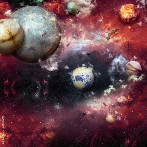 Canvas Prints Imagination Galaxy-another worlds