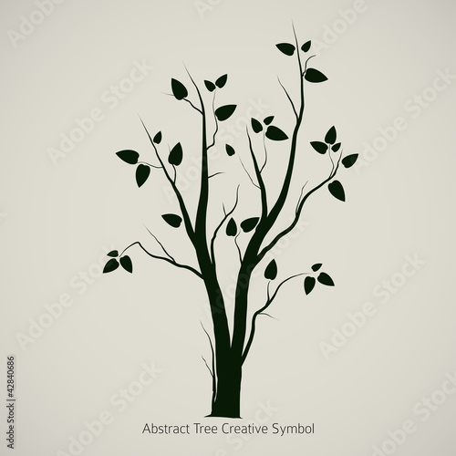 Tree Symbol Design Creative Nature Icon Buy This Stock Vector And