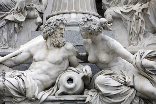Detail of Pallas-Athene fountain, Vienna