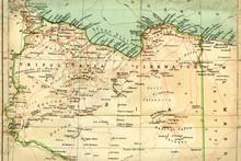 Old Map (1929) Of Libya