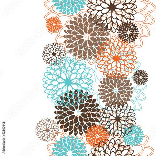Keuken foto achterwand Abstract bloemen Seamless pattern with abstract flowers. Vector illustration.
