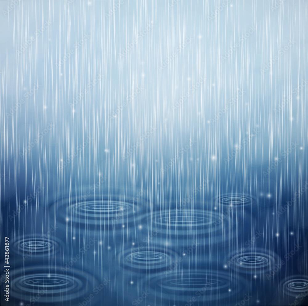 Fototapeta A rainy day