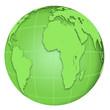 canvas print picture - green Globe