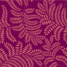 Seamless Pattern With Leaves O...