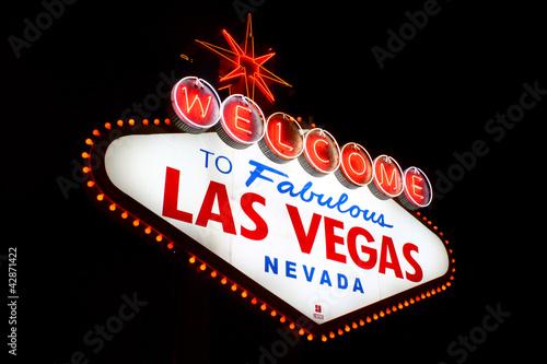 Foto op Aluminium Las Vegas Welcome to Fabulous Las Vegas