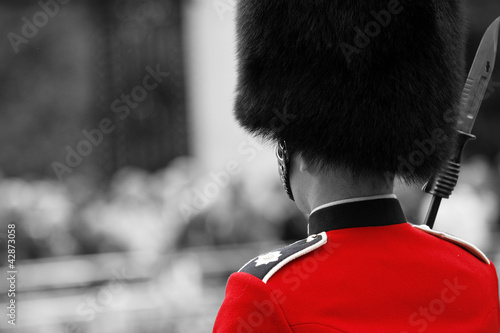 Poster Rouge, noir, blanc Queen's soldier at Trooping the color, 2012
