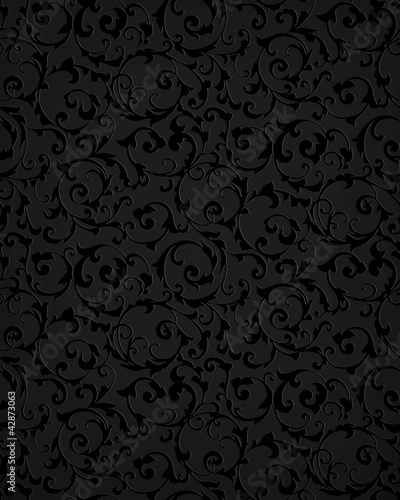 Black seamless pattern - 42873063