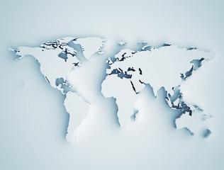 Fototapeta samoprzylepna World map 3D