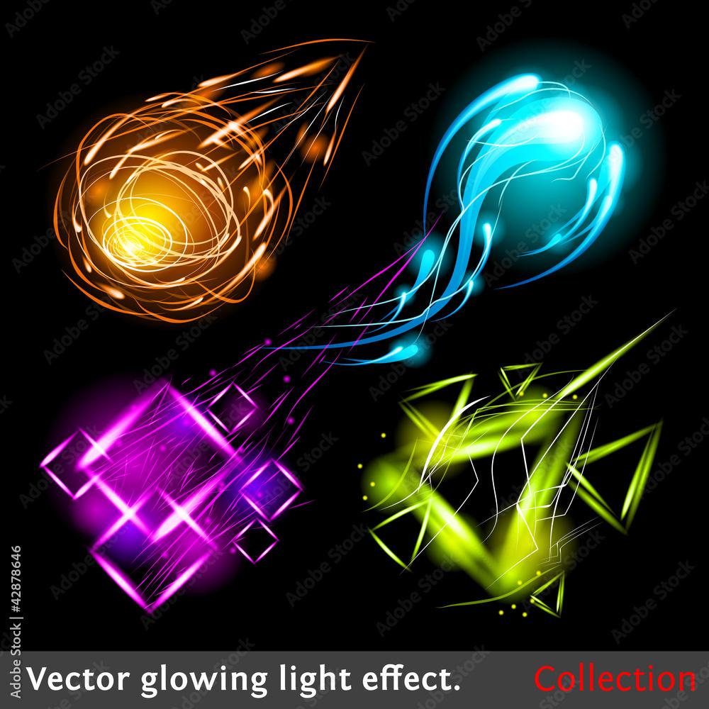 Fototapety, obrazy: Vector light symbols