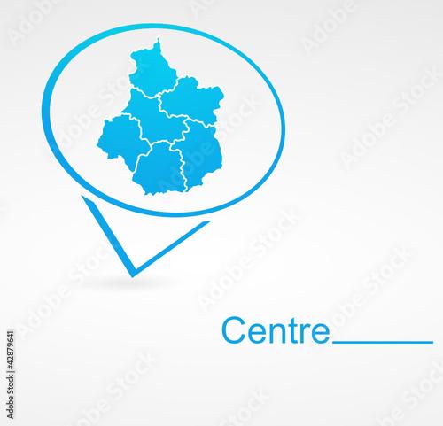 Fotografia  centre région de france dans signet bleu