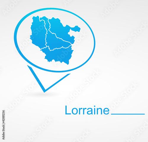 Photo  lorraine région de france dans signet bleu