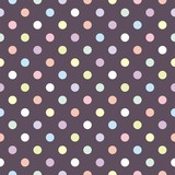 Colorful dots on dark background retro seamless vector pattern - 42881466