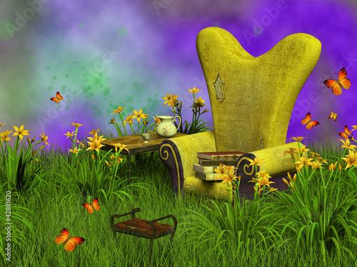 Fotografie, Obraz  fantasy reading place