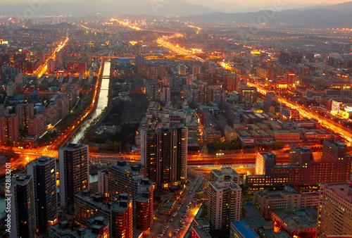 Foto auf Acrylglas Peking Beijing cityscape