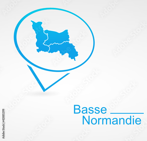 Fotografia  basse normandie région de france dans signet bleu