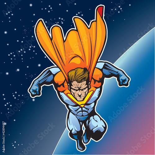 Poster Superheroes Super human flying 4