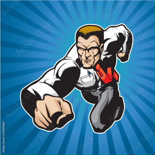 Door stickers Superheroes Super lawyer 2