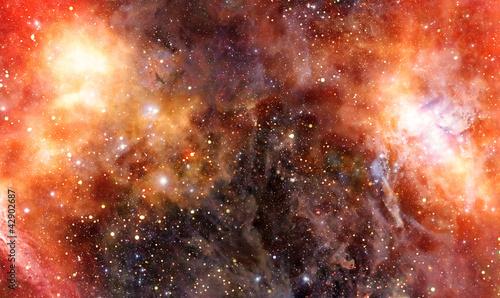 Fotografie, Tablou  nebula gas cloud in deep outer space