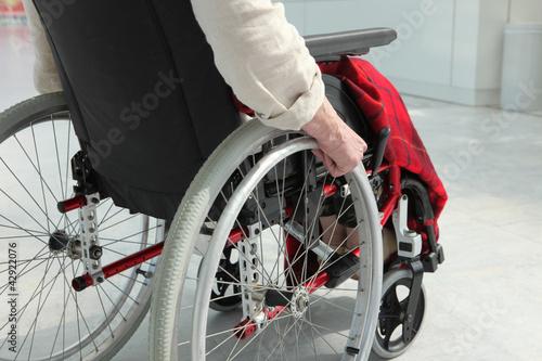 Fototapeta elderly person in wheelchair