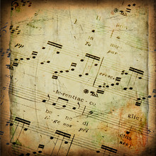 Old Texture Grunge With Musical Score
