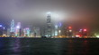 Hong Kong city sky line at night from Victoria harbour