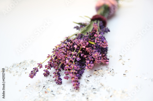 Photo  Dekoration mit Lavendel