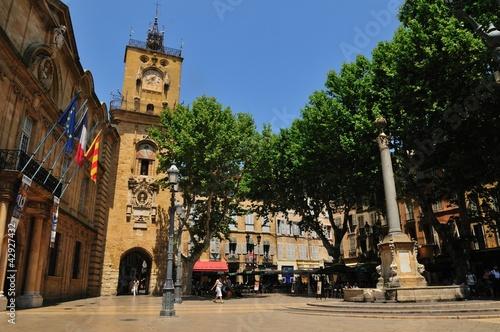 aix en provence,place de l'hotel de ville Wallpaper Mural