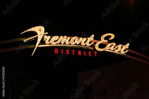 Spoed Fotobehang Las Vegas Famous Fremont Street Sign - Las Vegas