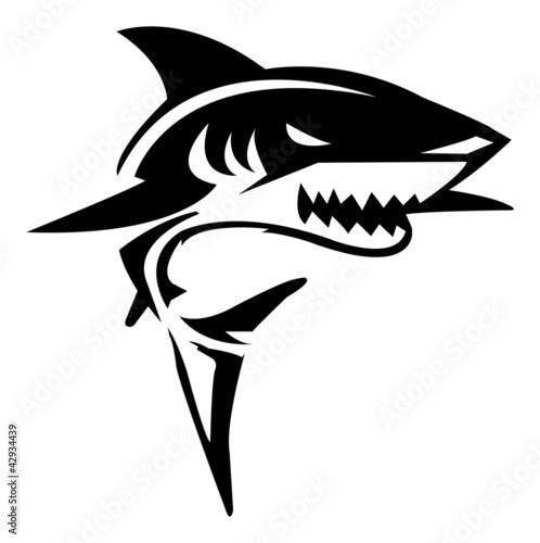 Fotografie, Obraz  Shark Illustration