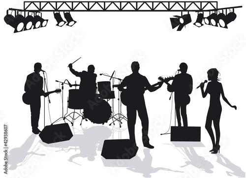 Fotografía  Band auf der Bühne
