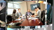 Revolving Montage 3D Images City Business, USA