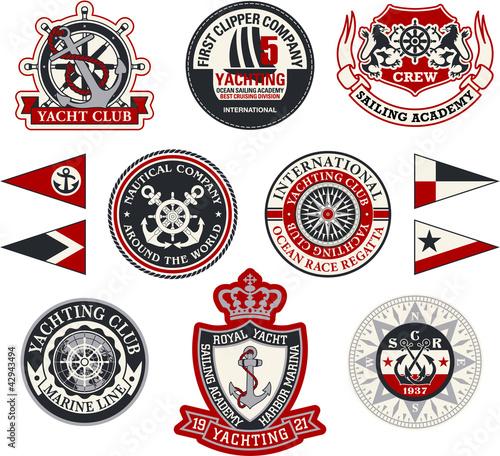 Stampa su Tela Yachting badges