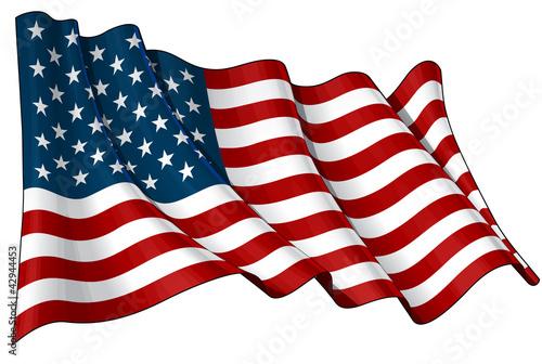 Fotografie, Obraz  Flag of USA