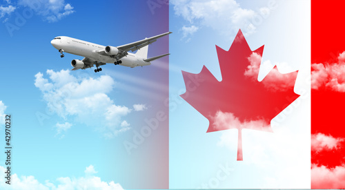 Foto op Canvas Canada Airplane Canada