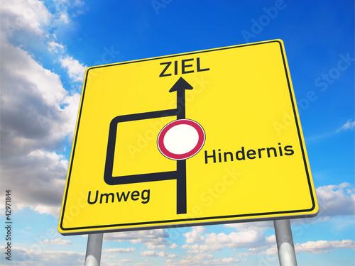 Fotografie, Obraz  Über einen Umweg zum Ziel!