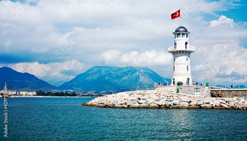 Fotografia Lighthouse in Alanya, Turkey