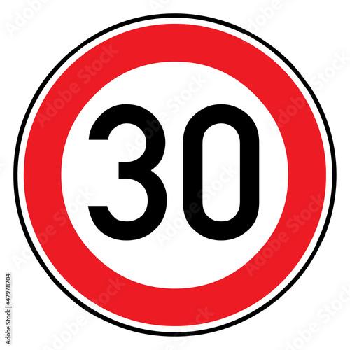 Fotografia  Verkehrsschild - 274 Höchstgeschwindigkeit (30)