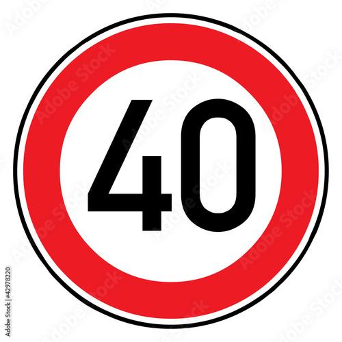 Poster Verkehrsschild - 274 Höchstgeschwindigkeit (40)