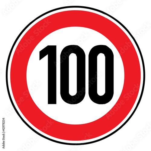 Fotografía  Verkehrsschild - 274 Höchstgeschwindigkeit (100)