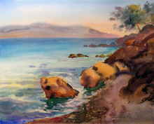 Watercolor Painting Of The Croatia