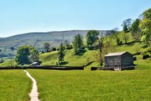 Remote Farm Track In Yorkshire Dales