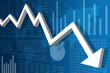 Récession Economique Monde Bleu