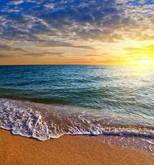 Fototapeta Morze sunrise on a sea
