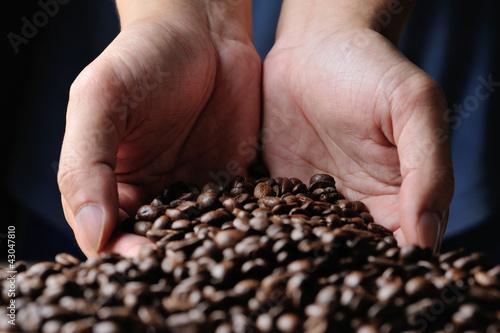 In de dag Kruiderij cofee grains