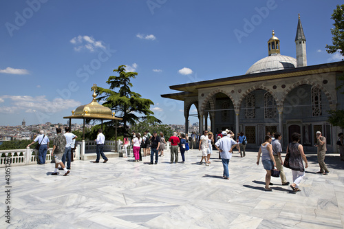 Photo  Upper terrace and Baghdad Kiosk, Topkapi Palace, Istanbul, Turke