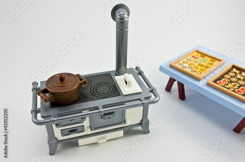 Photo  Dollhouse Stove with Cookies